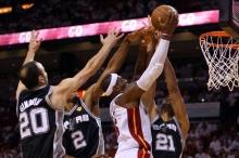 NBA总决赛第6场比赛热火队超时赛胜马刺队103-100